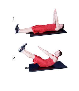 onderste buikspieren trainen oefening 1